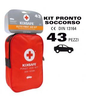 CASSETTA PRONTO SOCCORSO KIKSAFE - KIT EMERGENZA PER AUTO E FURGONI DIN 13164