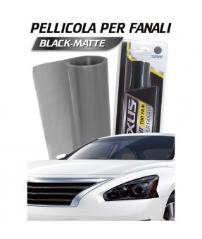 PELLICOLA ADESIVA PER FARI 150x40cm NERO