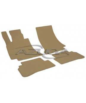 TAPPETI IN GOMMA BEIGE PER MERCEDES CLASSE C STATION WAGON (S205) DAL 2014 IN POI