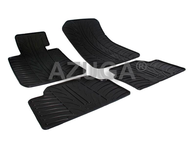 Tappetini BMW Serie 1 E87 2004/>2011 tappeti in gomma per auto antiscivolo nero